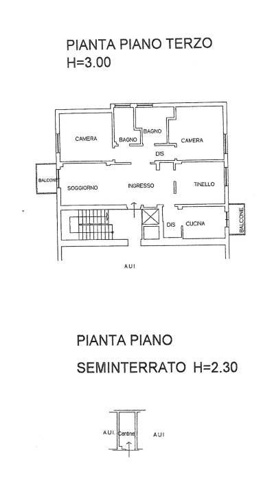 Bergamo, Poste centrali: signorile trilocale al terzo piano