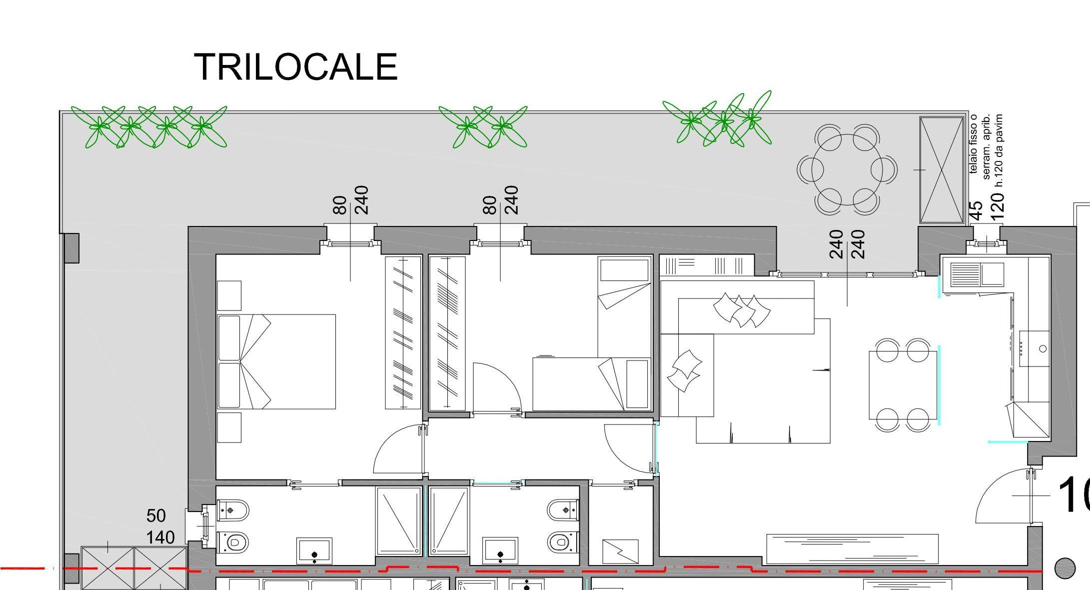 Trilocale in nuovo signorile edificio bergamo alma residence for Trilocale in affitto bergamo