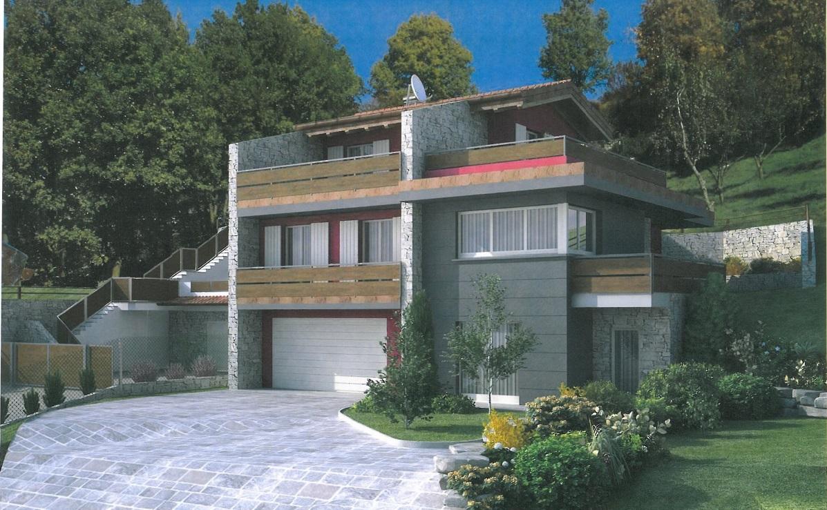Palazzago, splendida villa bifamiliare in collina