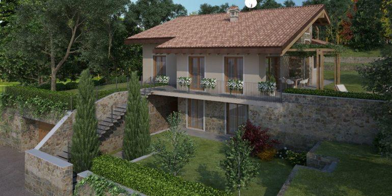 Rendering villa fnita